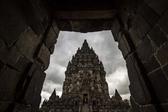 Prambanan Temple Indonesia Framing Stock Photo