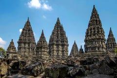 Prambanan Temple on Java Island, Indonesia. Prambanan Temple in Klaten near Yogyakarta, Java Island, Indonesia Stock Images