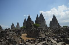 Prambanan Temple most beautiful architecture royalty free stock image