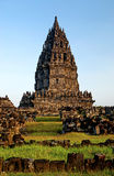 Prambanan temple in indonesia Royalty Free Stock Image
