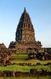 Prambanan temple in indonesia Royalty Free Stock Image