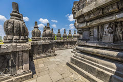Prambanan temple near Yogyakarta on Java island, Indonesia Royalty Free Stock Photos