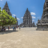 Prambanan temple near Yogyakarta on Java island, Indonesia Stock Images