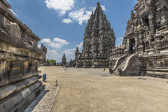 Prambanan temple near Yogyakarta on Java island, Indonesia Stock Photos