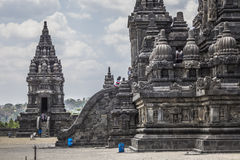 Prambanan temple near Yogyakarta on Java island, Indonesia Royalty Free Stock Image