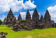 Prambanan temple near Yogyakarta on Java island - Indonesia Stock Photo