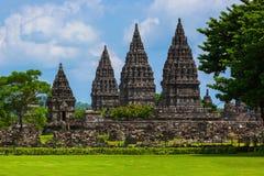 Prambanan temple near Yogyakarta on Java island - Indonesia Royalty Free Stock Photo