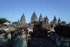 Prambanan Temple. At central java Sleman Yogyakarta Royalty Free Stock Photo