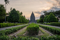 Prambanan Temple at Sunset Stock Photos