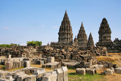 Prambanan temple in Yogyakarta Royalty Free Stock Photography