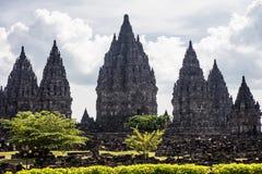 Prambanan Temples in Java, Indonesia Stock Images