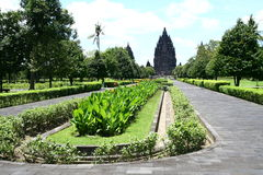 Prambanan temples. Panorama in Java Indonesia Royalty Free Stock Image