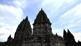 Prambanan Timelapse kąta Świątynny Szeroki obiektyw zbiory wideo