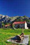 Pramosio mountain hut in the Carnia Alps. Friuli, Italy Stock Photo