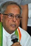 Pranab Mukherjee spreekt aan Media Royalty-vrije Stock Afbeeldingen