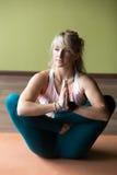 Pranama Garbha Pindasana Yoga Pose Royalty Free Stock Photography