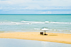 Pranburi beach, Thailand. Beaches ideal for relaxing in the summer royalty free stock image
