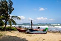 Pranburi plaża przy Tajlandia Obrazy Royalty Free