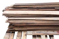 Prancha da madeira da pilha imagens de stock royalty free
