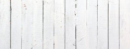 Prancha de madeira branca panorâmico Fotos de Stock Royalty Free