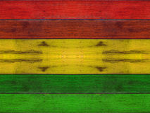 Prancha de madeira com fundo da reggae Imagem de Stock