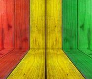 Prancha de madeira com fundo da reggae Fotos de Stock