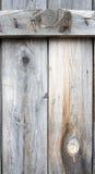 Prancha de madeira com prego da oxidação Imagens de Stock Royalty Free