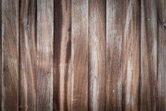 A prancha de madeira de madeira connosco, teste padrão do marrom velho natural envelheceu Imagens de Stock Royalty Free