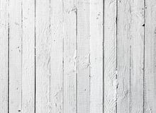 Prancha de madeira pintada branco do Grunge Imagens de Stock Royalty Free