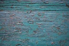 Prancha de madeira pintada velha fotos de stock