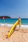Prancha do salvamento na praia Imagens de Stock Royalty Free