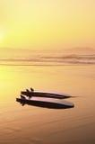Prancha na costa Imagens de Stock Royalty Free