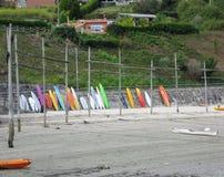 Prancha na praia Imagens de Stock