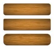 Pranchas da madeira do vetor Fotografia de Stock