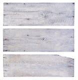 Pranchas de madeira brancas Fotografia de Stock