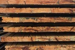 Pranchas de madeira coloridas fotografia de stock