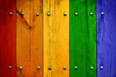 Pranchas de madeira coloridos brilhantes Foto de Stock Royalty Free