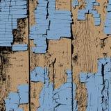 Pranchas de madeira com fundo rachado da pintura Ilustração Stock