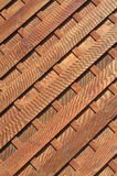 Pranchas de madeira diagonais Foto de Stock Royalty Free