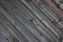 Pranchas de madeira diagonais Imagem de Stock