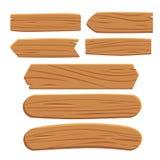 Pranchas de madeira do vetor isoladas no fundo branco Fotografia de Stock