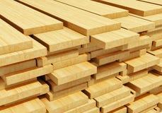 Pranchas de madeira empilhadas Imagem de Stock