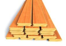 Pranchas de madeira empilhadas da construção Foto de Stock Royalty Free