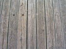 Pranchas de madeira no cais Imagens de Stock