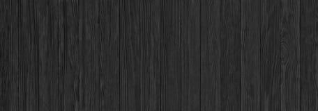 Pranchas de madeira pretas, um panorama da textura de madeira com natural imagem de stock royalty free