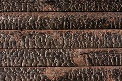 Pranchas de madeira queimadas Imagem de Stock