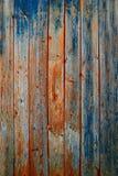 Pranchas de madeira rústicas - teste padrão obsoleto da folhosa foto de stock royalty free