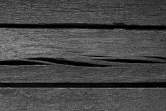 Pranchas de madeira resistidas preto e branco velhas Fotografia de Stock