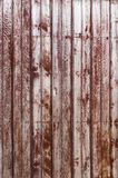 Pranchas gastos de madeira velhas na fileira Foto de Stock Royalty Free