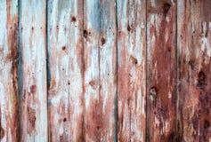 Pranchas gastos de madeira velhas na fileira, backg Fotografia de Stock Royalty Free